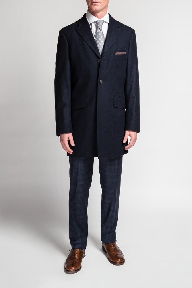 GT Navy Flannel Topcoat