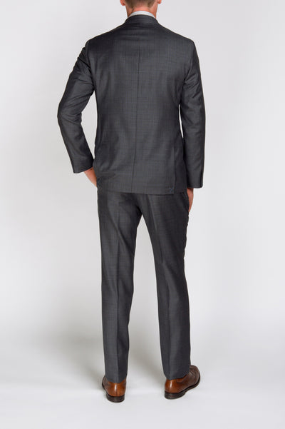 Espada Grey Blue Check Suit