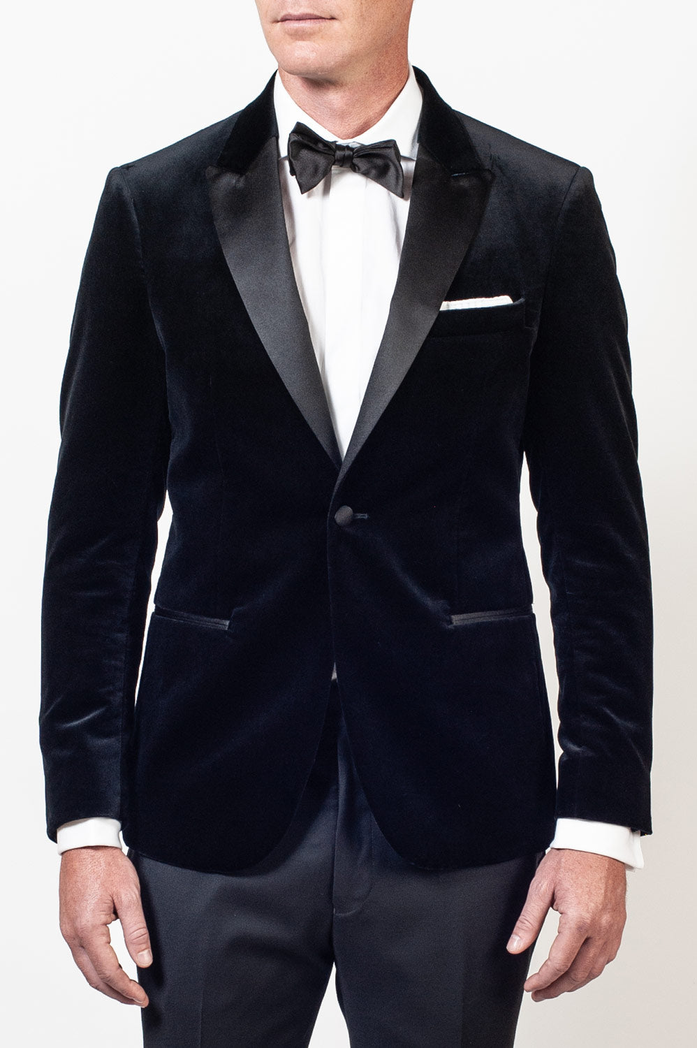 Aston Black Velvet Dinner Jacket Strong Suit Clothing