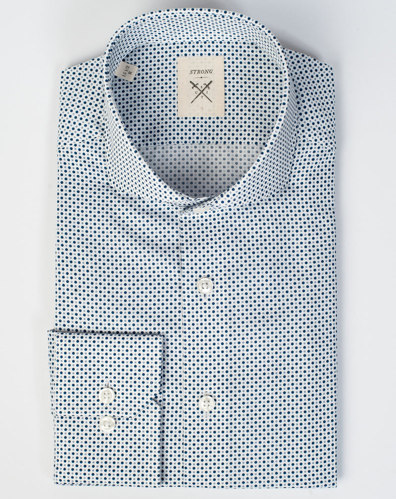 Espirit Blue Dot Print Shirt