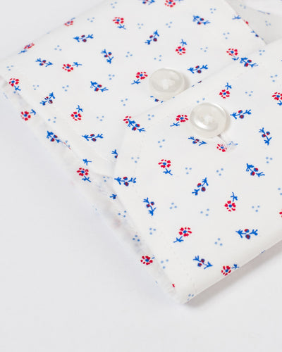 Espirit Blue Red Floral Shirt