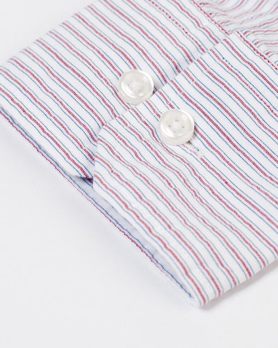 Espirit Red Stripe Pucker Shirt