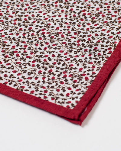 Crimson and Brown Vine Pocket Square