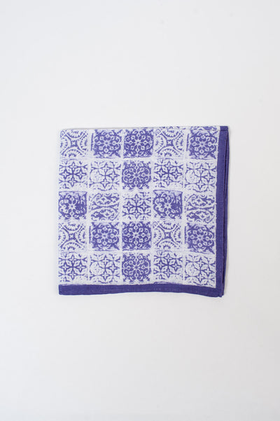 Purple Tile Pocket Square