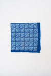 Navy with Blue Flower Pocket Square