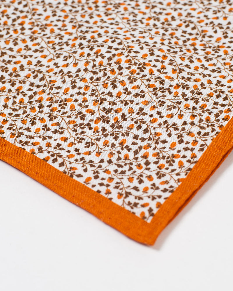 Apricot and Brown Vine Pocket Square