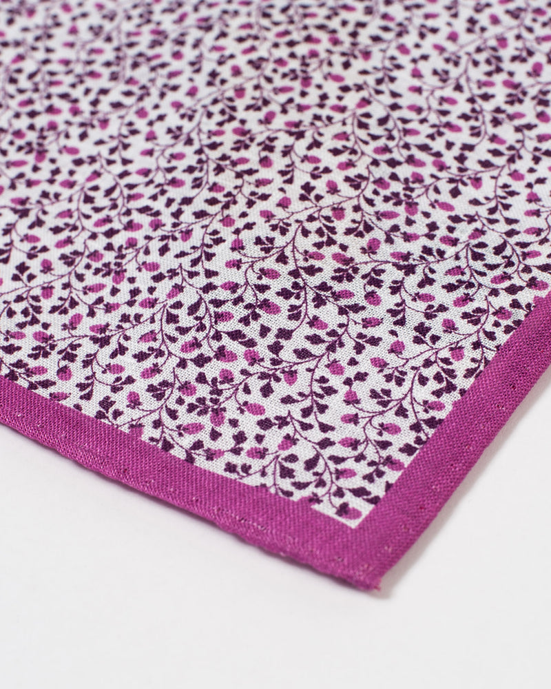 Mauve and Purple Vine Pocket Square