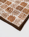 Brown Tile Pocket Square