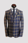Veloce Blue Flannel Plaid Sportcoat