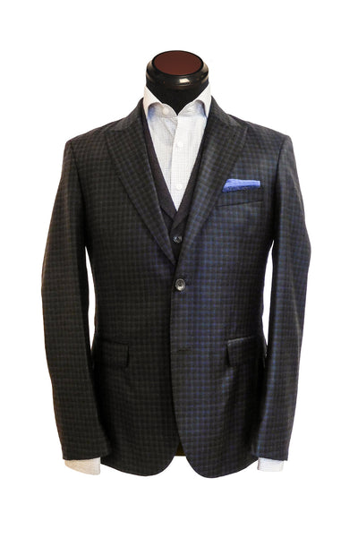Volante Blue and Brown Plaid Sportcoat
