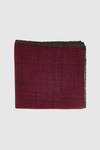 Maroon with Hunter Circles Pocket Square