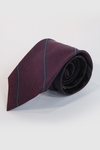 Oxblood with Olive Stripe Necktie