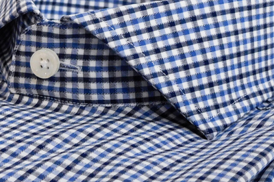Espirit Navy and Blue Check Shirt