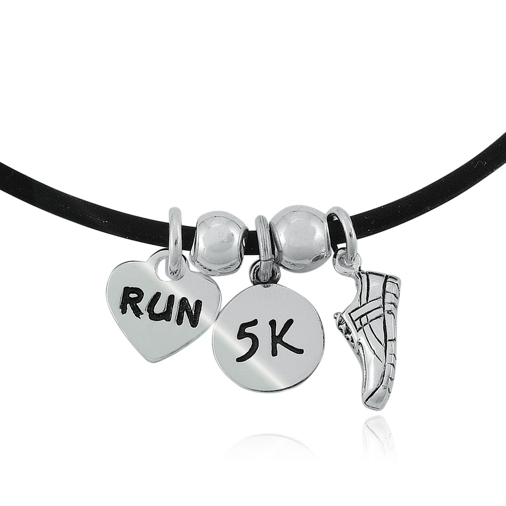 5K Love To Run Charm Trio Necklace
