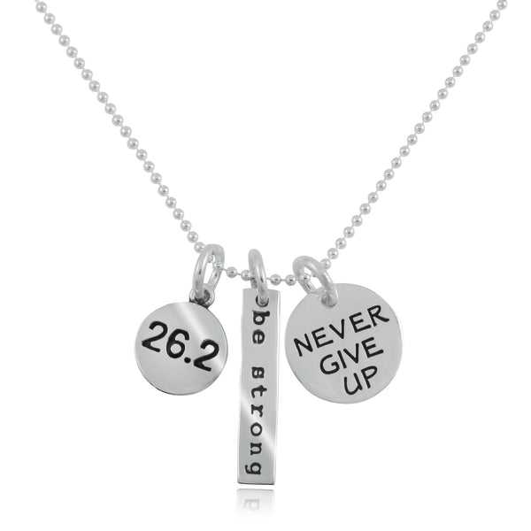 26.2 Be Strong Charm Trio Necklace