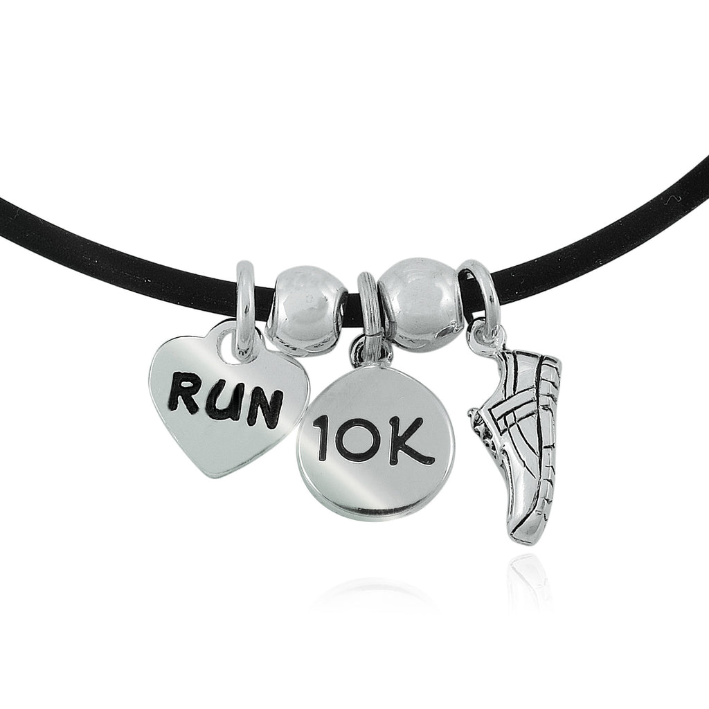 10K Love To Run Charm Trio Necklace