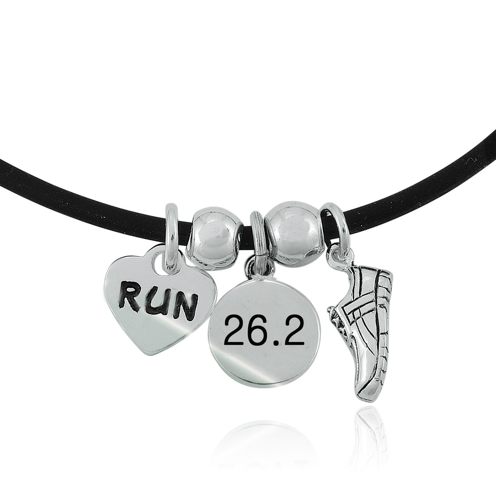 26.2 Love To Run Charm Trio Necklace
