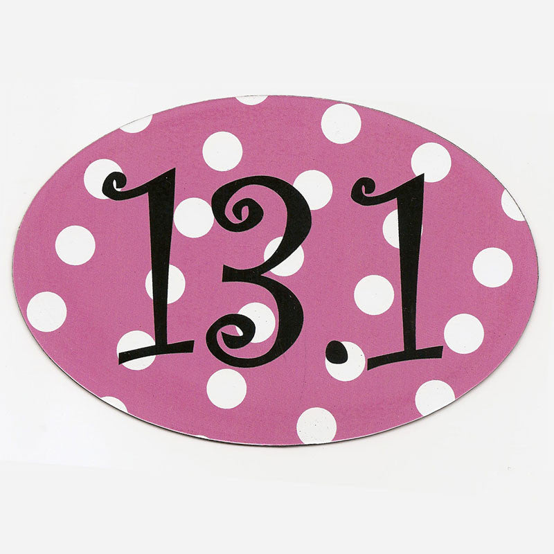 13.1 Pink Polka Dot Magnet | Sticker