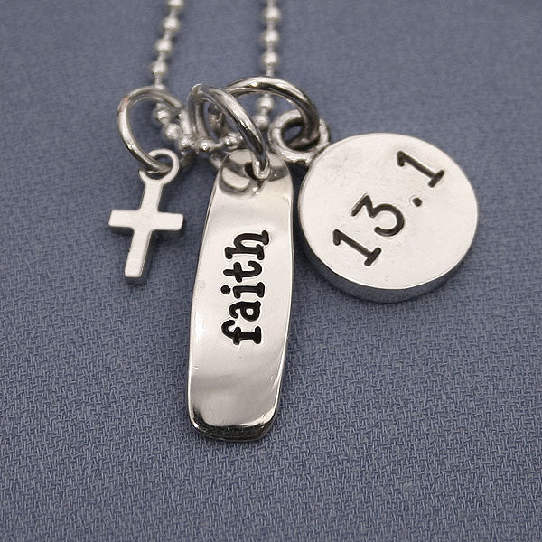 13.1 Faith Charm Trio Necklace