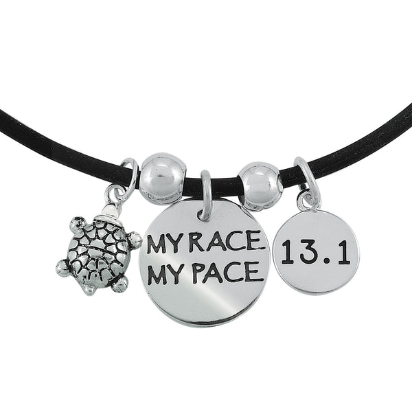 13.1 My Race My Pace Charm Trio Necklace
