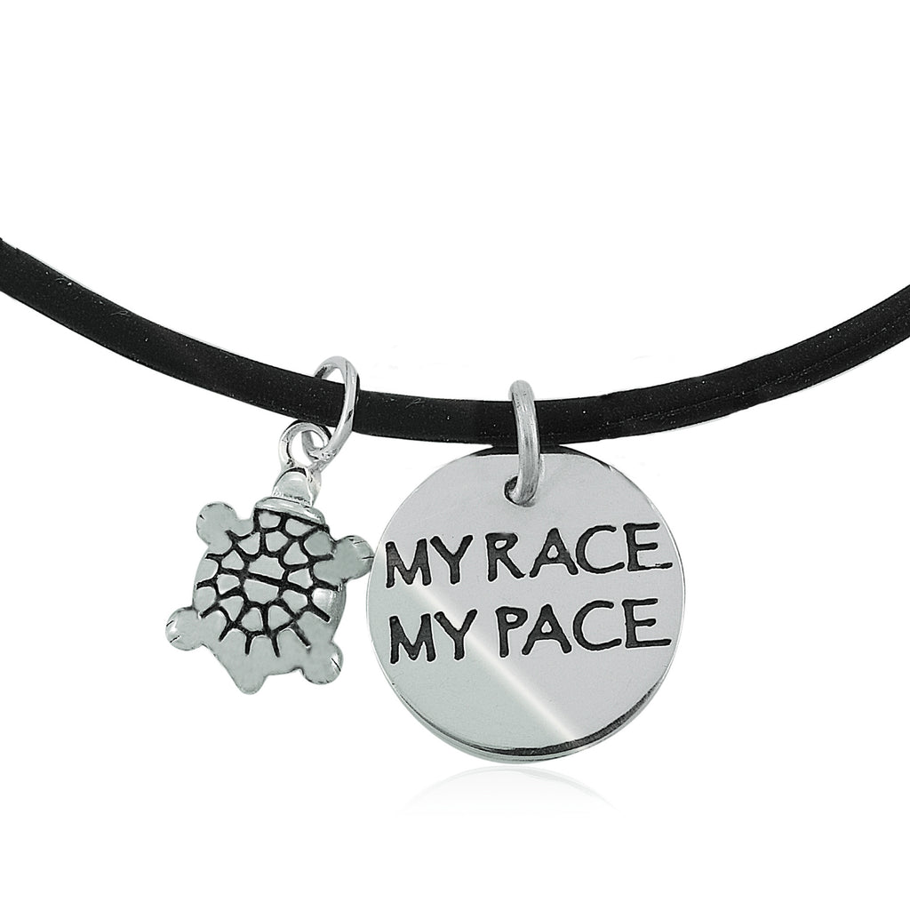 My Race My Pace Charm Duo Necklace