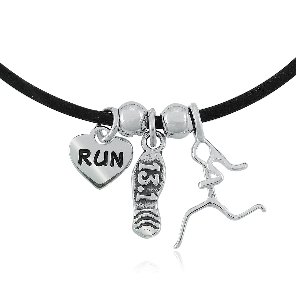 13.1 Shoe, Runner Girl Charm Trio Necklace