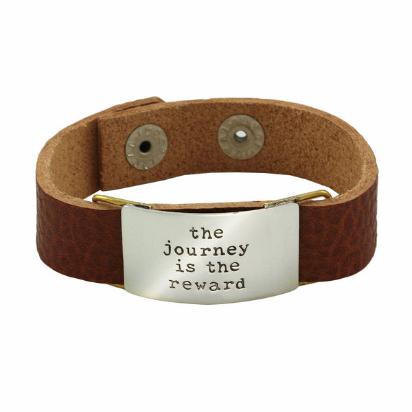The Journey is the Reward Leather Bracelet
