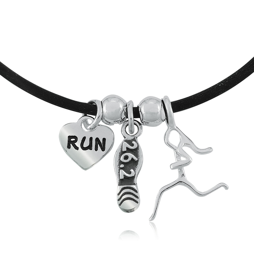 26.2 Shoe, Runner Girl Charm Trio Necklace