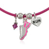 Pink Running Shoe Charm Trio Necklace