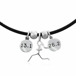 13.1 and 26.2 Combo Charm Trio Necklace