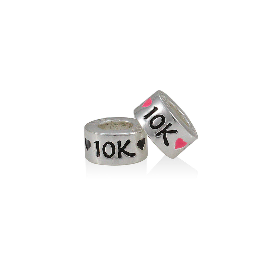 10K Heart Slide Bead