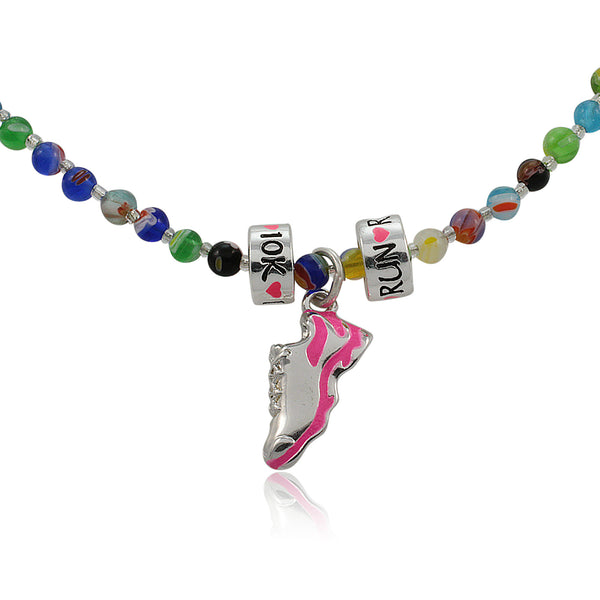 Large Hole Bead Charm Trio Necklace