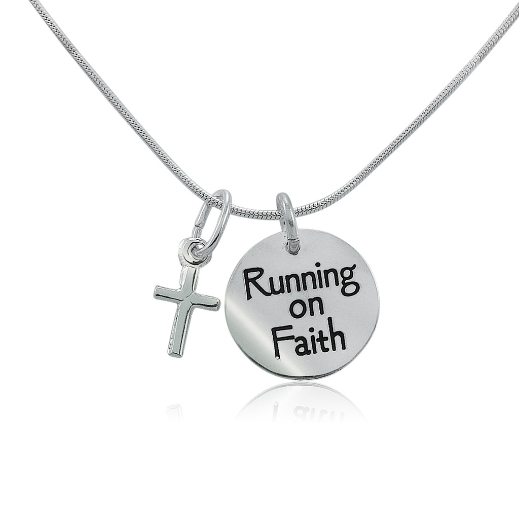 Running On Faith Charm Duo Necklace