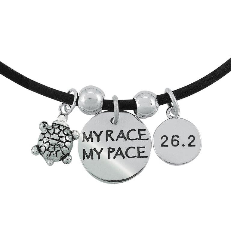 26.2 My Race My Pace Charm Trio Necklace