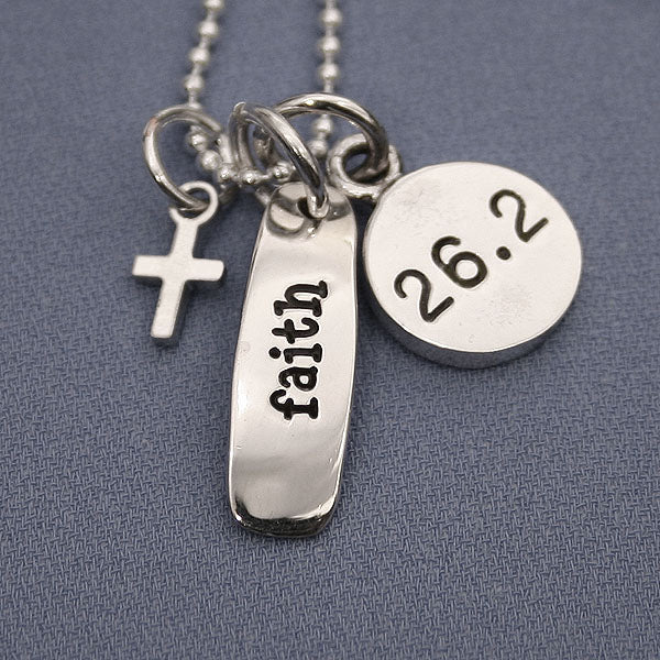 26.2 Faith Charm Trio Necklace