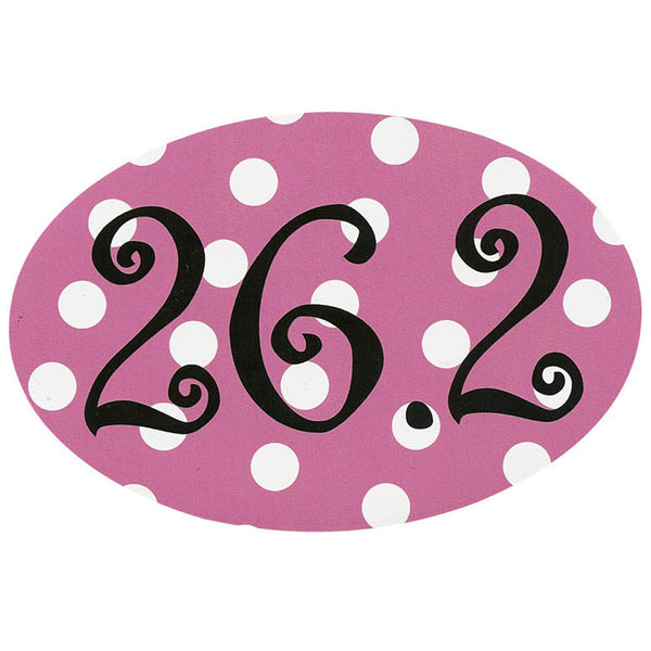 26.2 Pink Polka Dot Magnet |Sticker