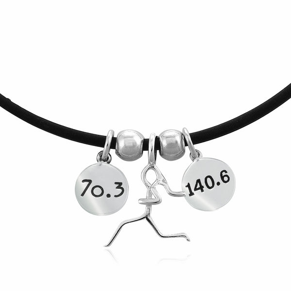 70.3 & 140.6 Combo Charm Trio Necklace