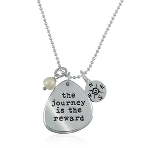 The Journey Is The Reward Charm Trio Necklace