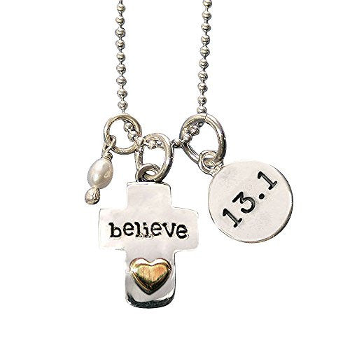 13.1 Believe Cross Charm Trio Necklace