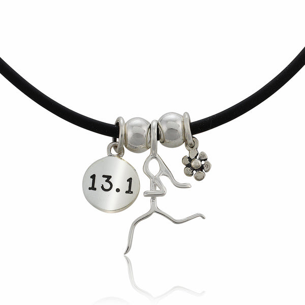 13.1 Flower Charm Trio Necklace