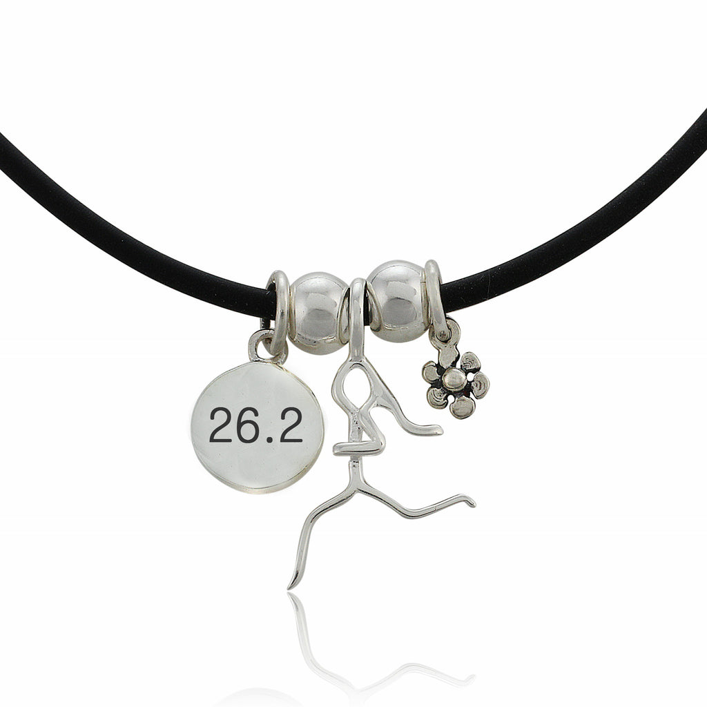 26.2 Flower Charm Trio Necklace