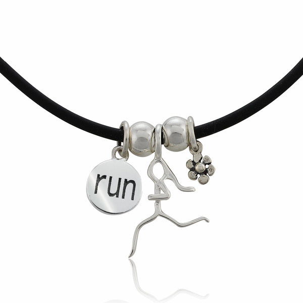 Runner Girl Charm Trio Necklace