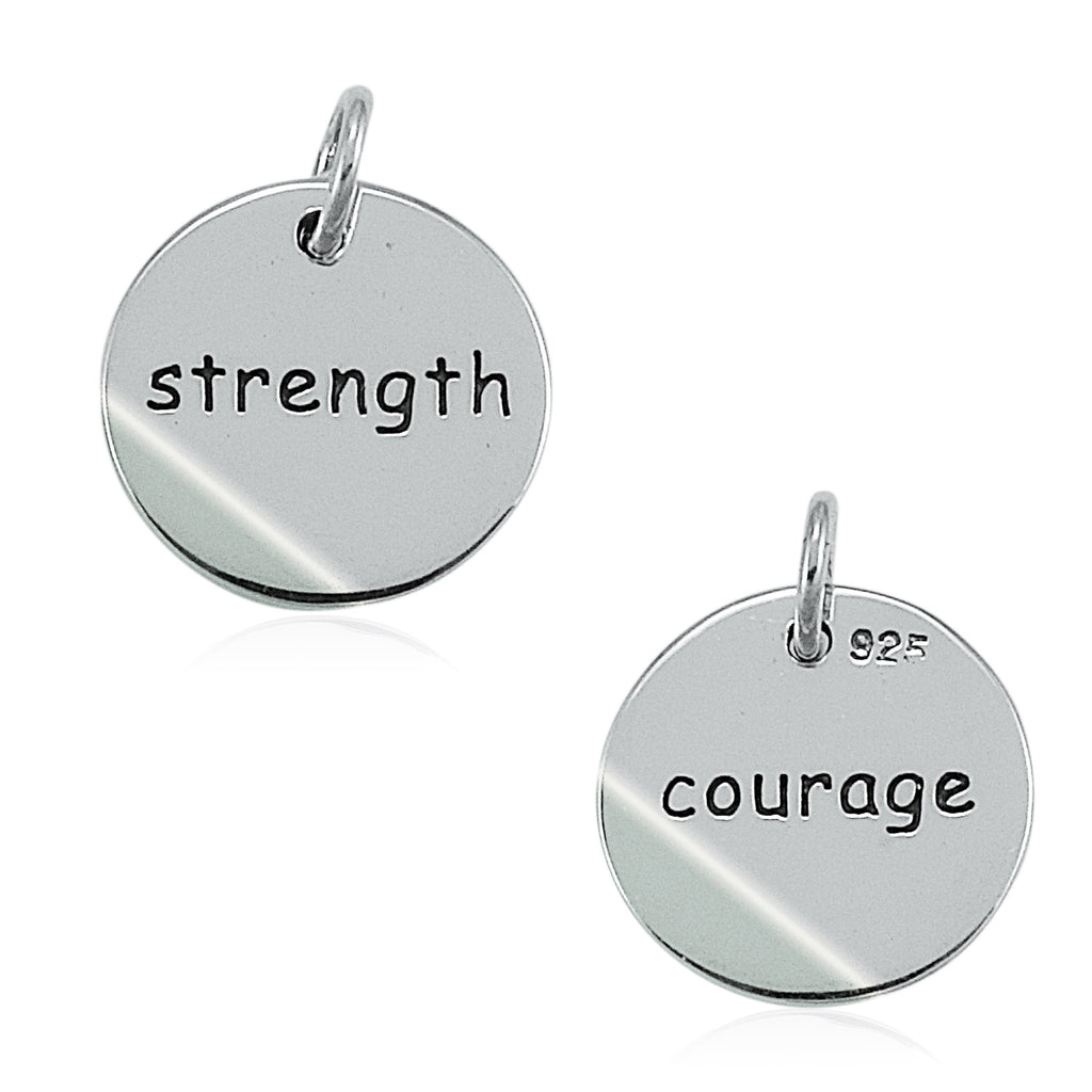 Courage Strength Double Sided Charm