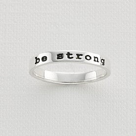 Be Strong Thin Band Ring