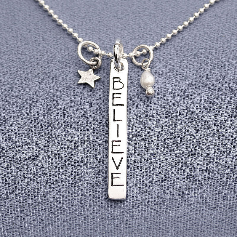 Believe Charm Trio Necklace