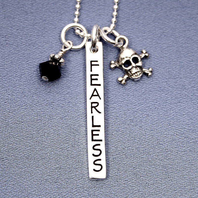 Fearless Charm Trio Necklace