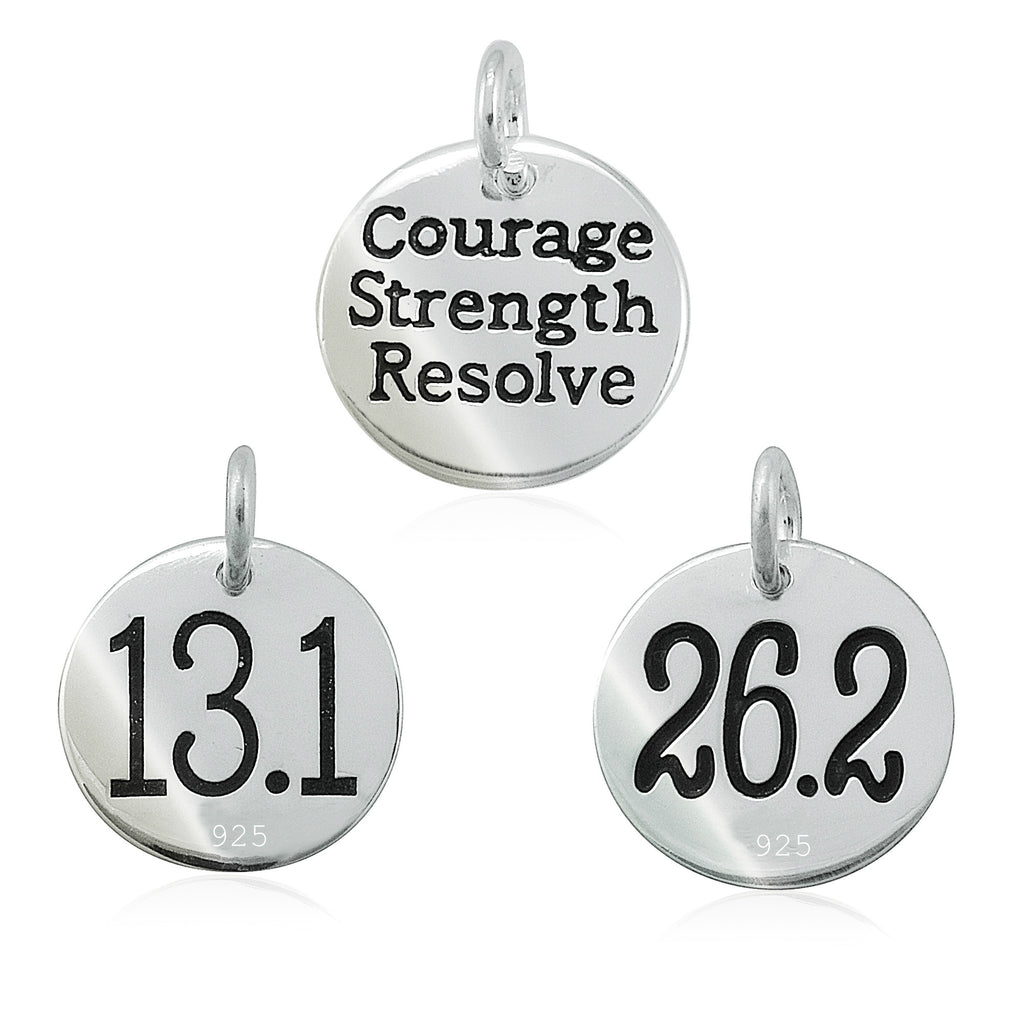 13.1 &  26.2 Courage Strength Resolve Double-Sided Charms