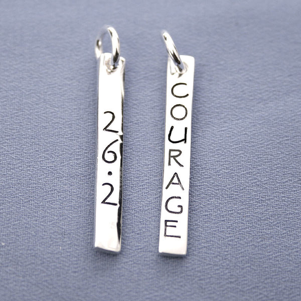 26.2 Courage Rectangle Pendant