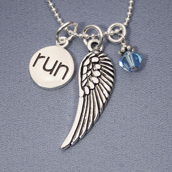 Run and Fly Charm Trio Necklace
