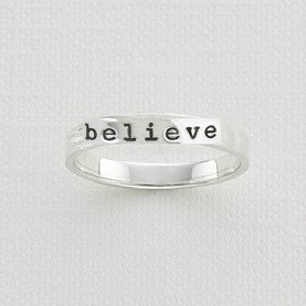 Believe Thin Band Ring